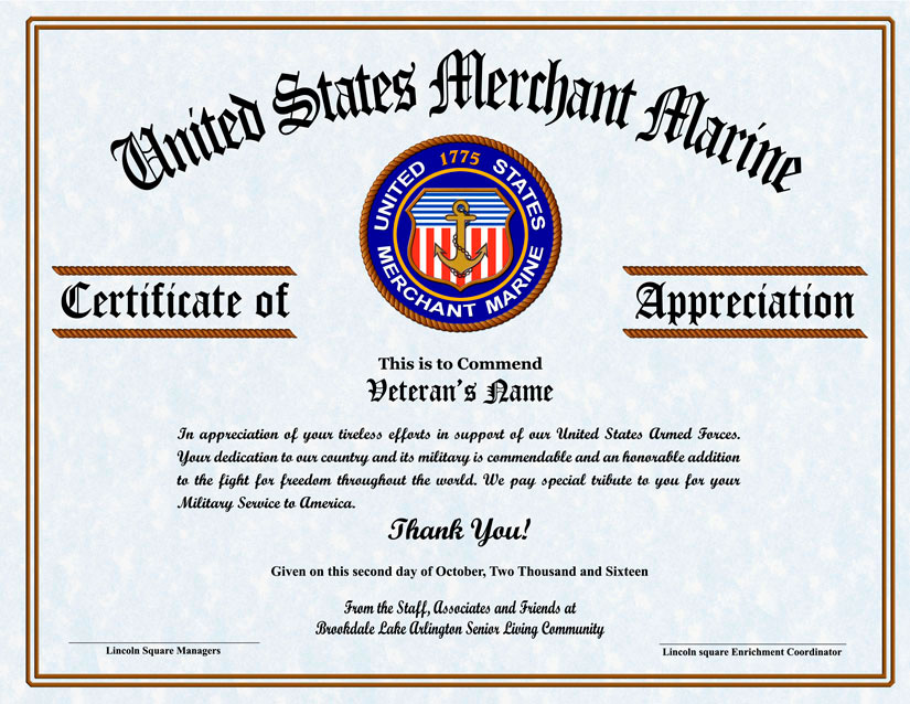 It is a photo of Terrible Free Printable Veterans Certificate of Appreciation